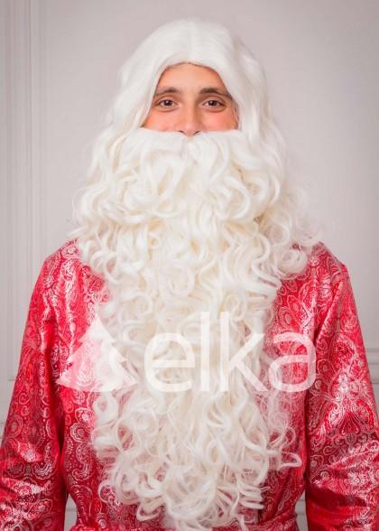 Набор Борода и Парик Деда Мороза эконом