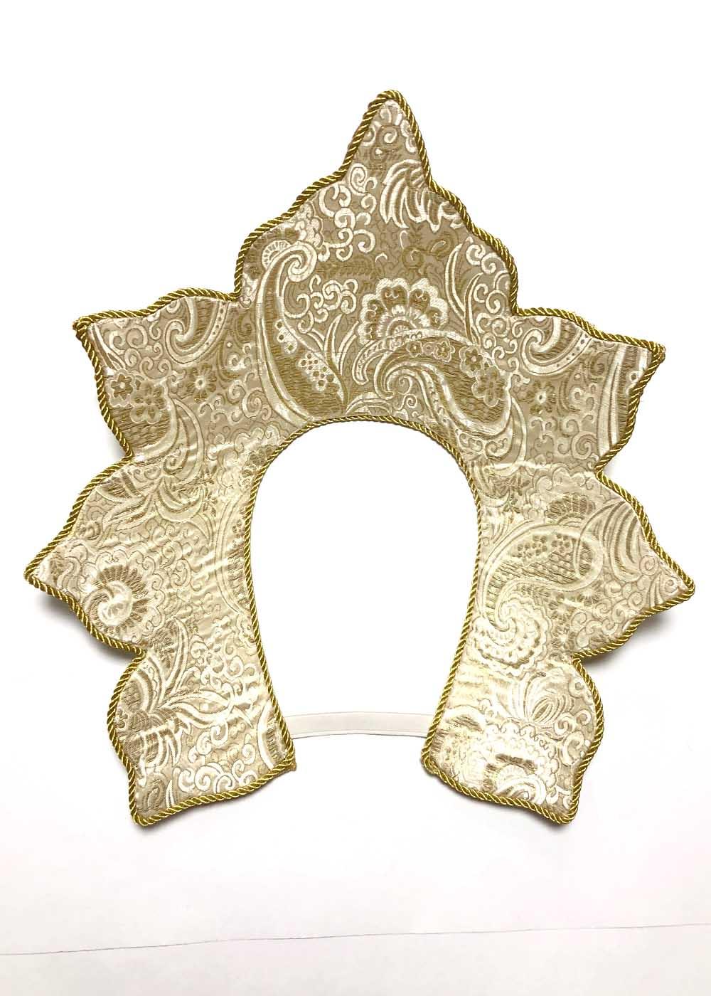 Кокошник Ирис золото