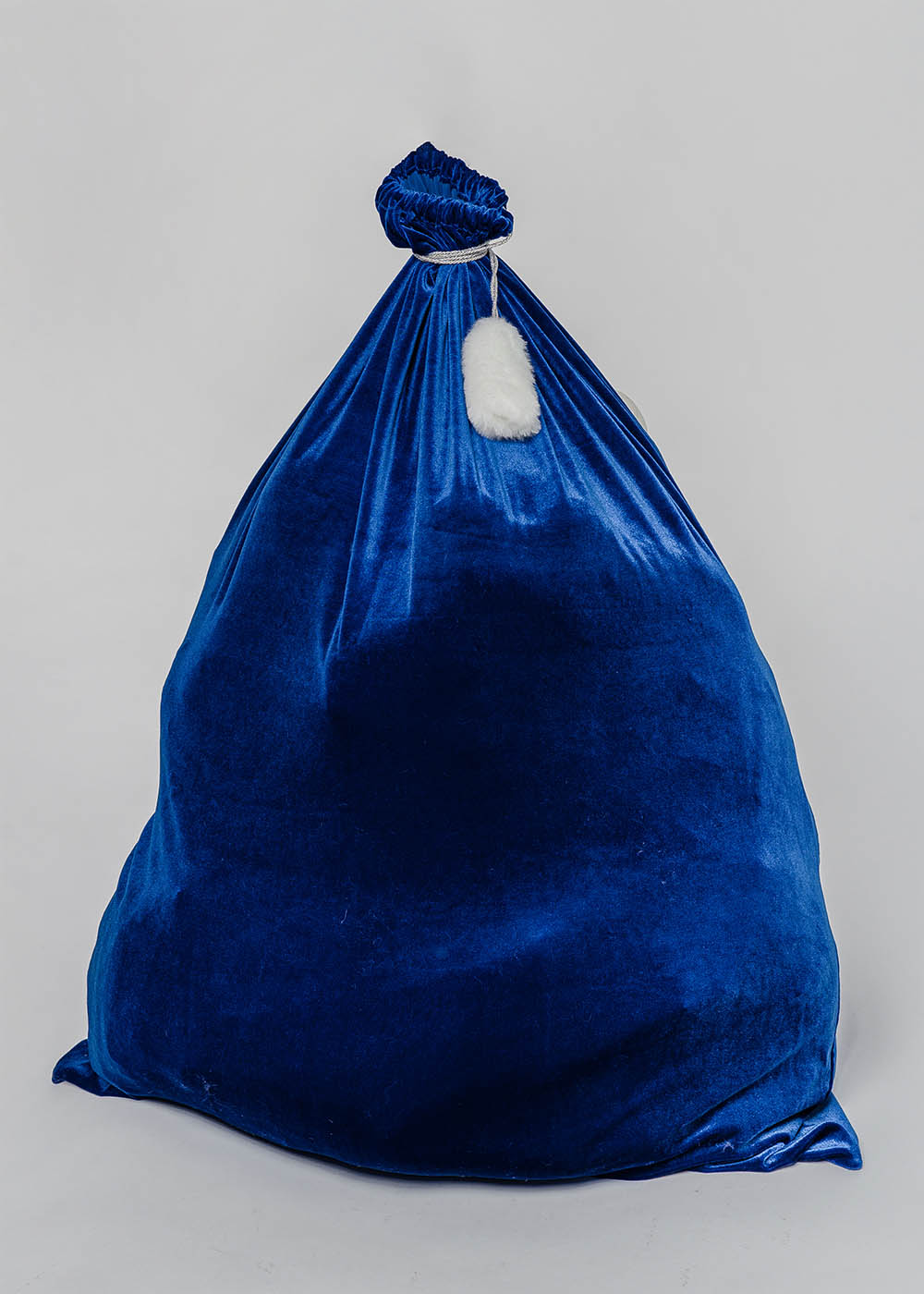 Мешок для подарков синий 75*100