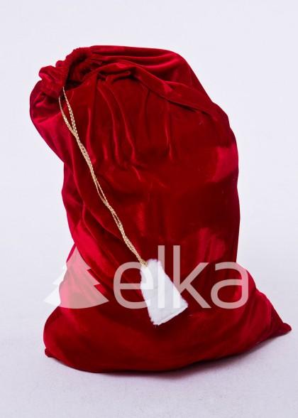 Мешок для подарков красный 75*100