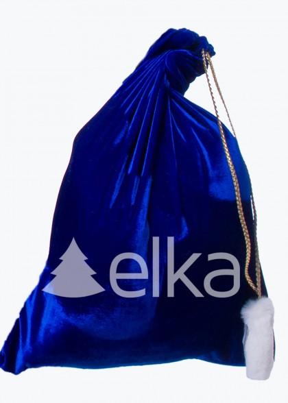 Мешок для подарков синий 48*60