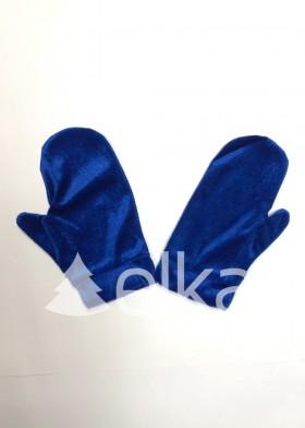 Варежки Снегурочки синие