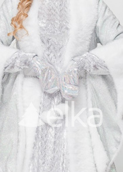 Варежки Снегурочки белые