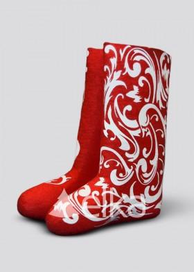 Сапоги Деда Мороза красные