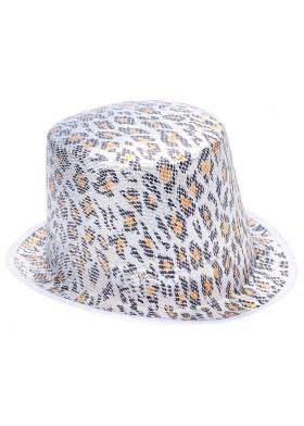 Шляпа Серый леопард