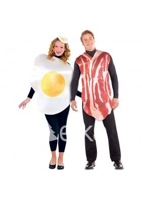 Завтрак с беконом и яйцом(двое)