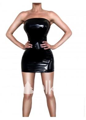 Платье лакированное