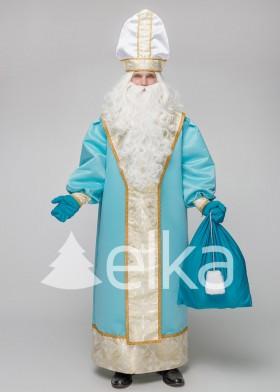 Костюм Святого Николая Духовный голубой