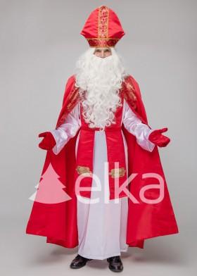 Костюм Святого Николая Костельный красный