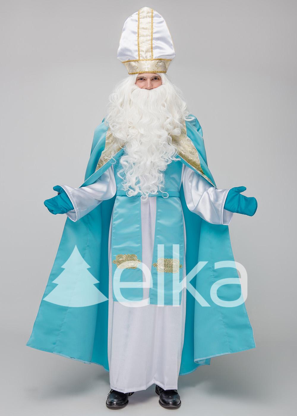 Костюм Святого Николая Костельный голубой