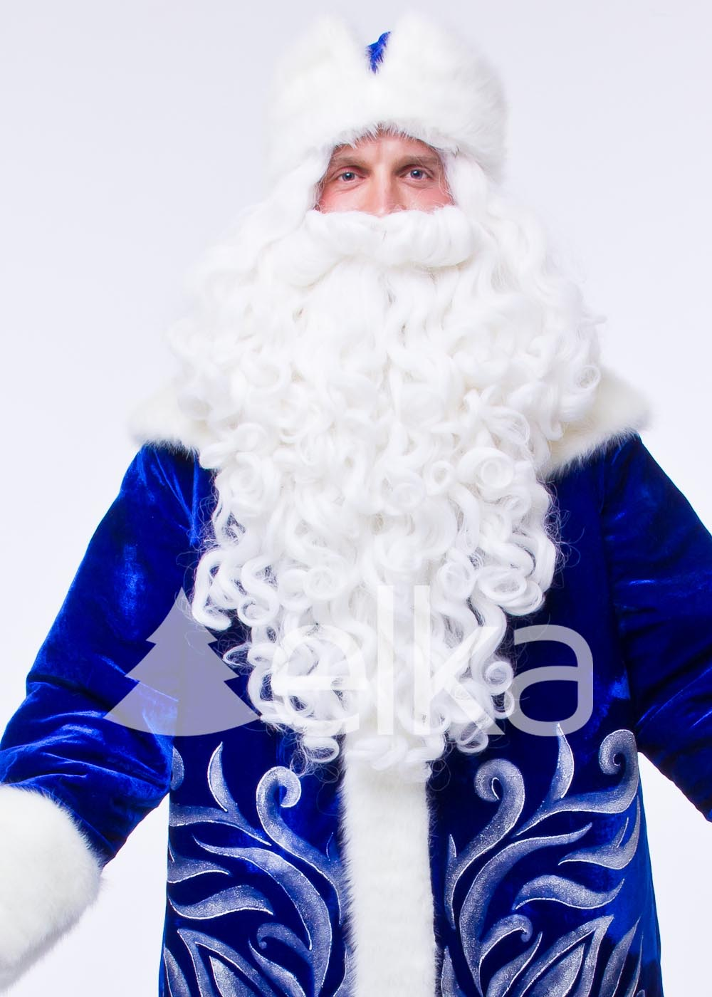 Костюм Деда Мороза Восток синий