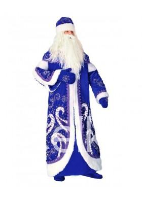 Костюм Деда Мороза Дружба синий