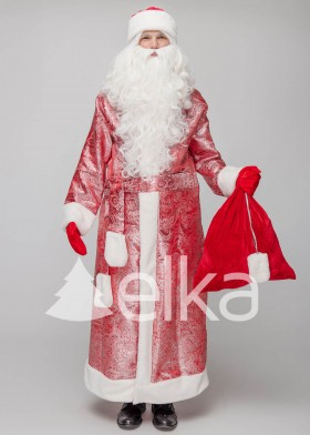 Костюм Деда Мороза Троицкий красный