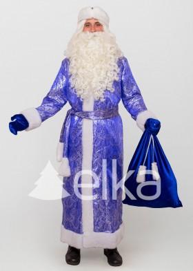 Костюм Деда Мороза Троицкий синий