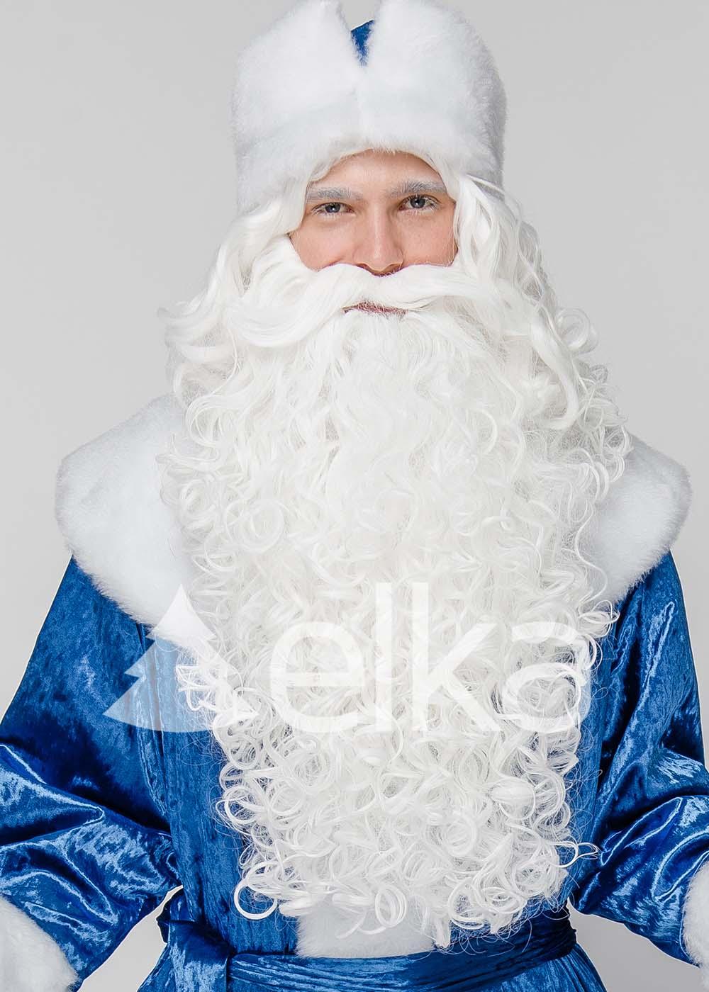 Костюм Деда Мороза Синий Мрамор