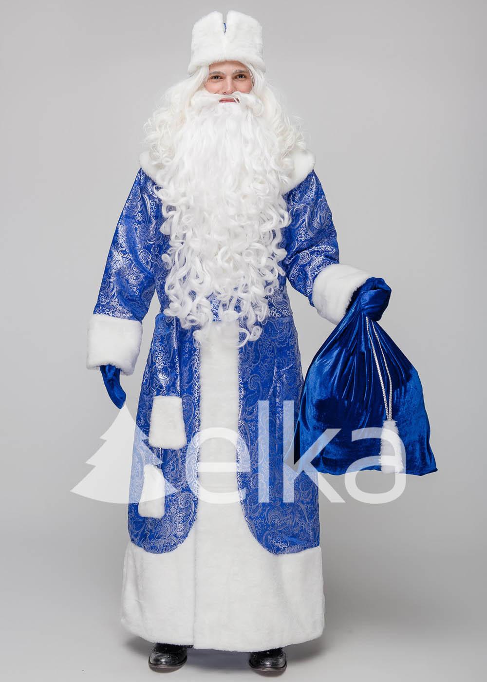 Костюм Деда Мороза Норвежский Синий