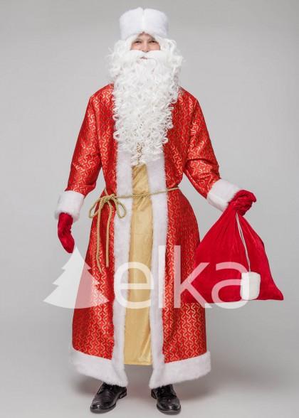 Костюм Деда Мороза Самсон красный