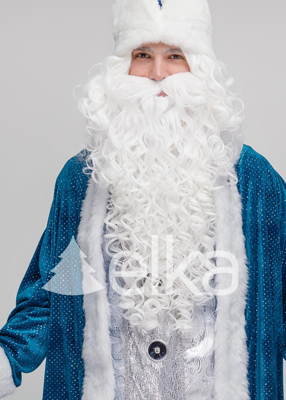 Костюм Деда Мороза Юрьевский синий