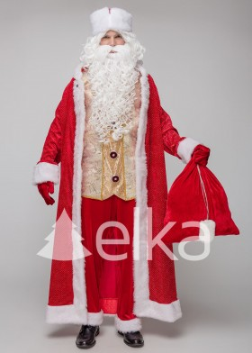 Костюм Деда Мороза Юрьевский красный