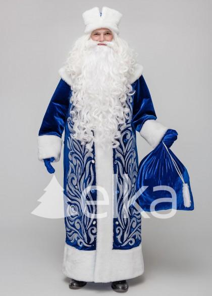 Костюм Діда Мороза Полюс синій
