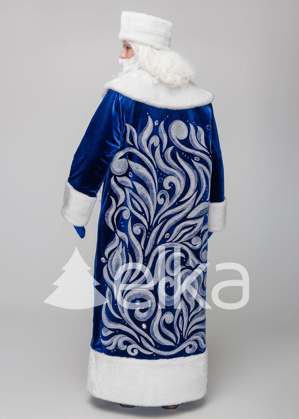 Костюм Деда Мороза Полюс синий