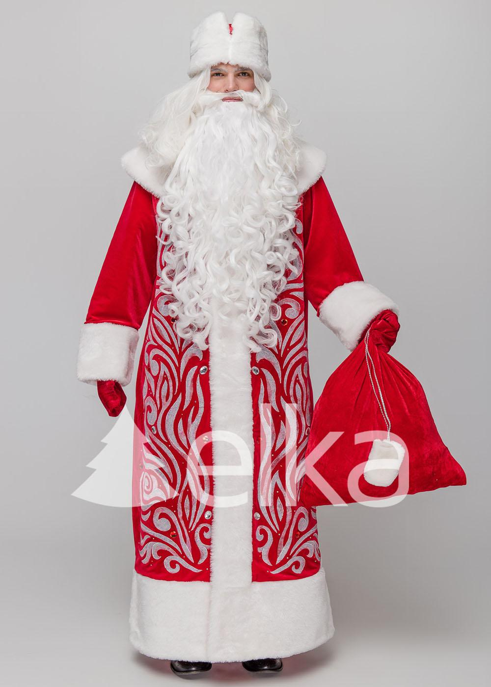 Костюм Деда Мороза Полюс красный
