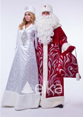 Костюм Деда Мороза и Снегурочки Сказочный
