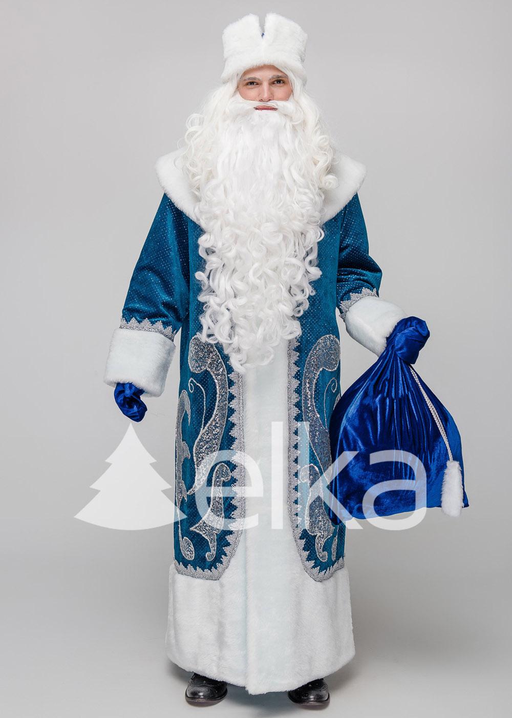 Костюм Деда Мороз Знаменский синий