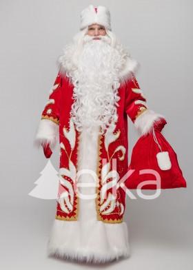 Костюм Деда Мороза Успенский красный