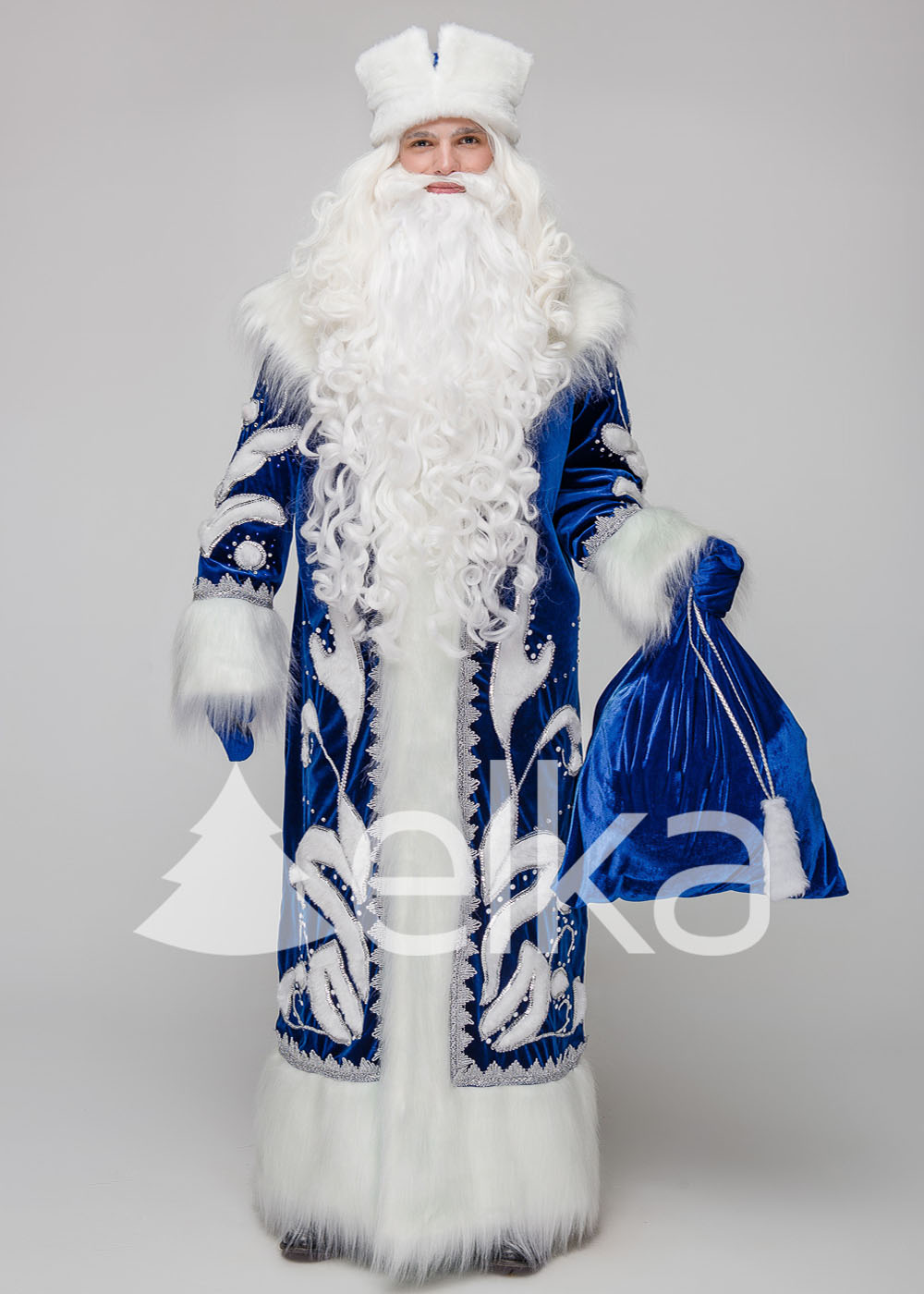 Костюм Деда Мороза Успенский синий