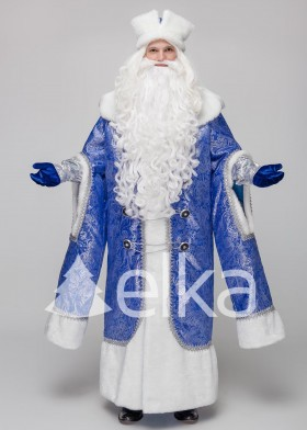 Костюм Деда Мороза Боярский синий