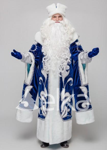 Костюм Деда Мороза Княжский синий