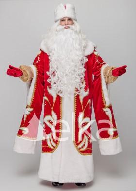 Костюм Деда Мороза Княжский красный