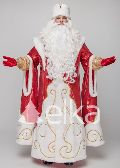 Костюм Діда Мороза Верховний червоний