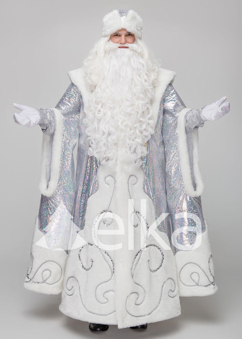 Костюм Деда Мороза Верховный белый