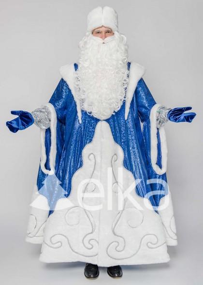 Костюм Діда Мороза Верховний синій