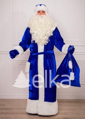 Костюм Деда Мороза Синий Глянец