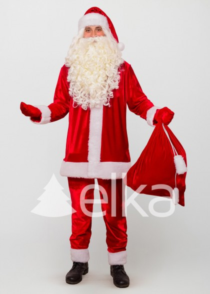Костюм Санта Клауса велюр
