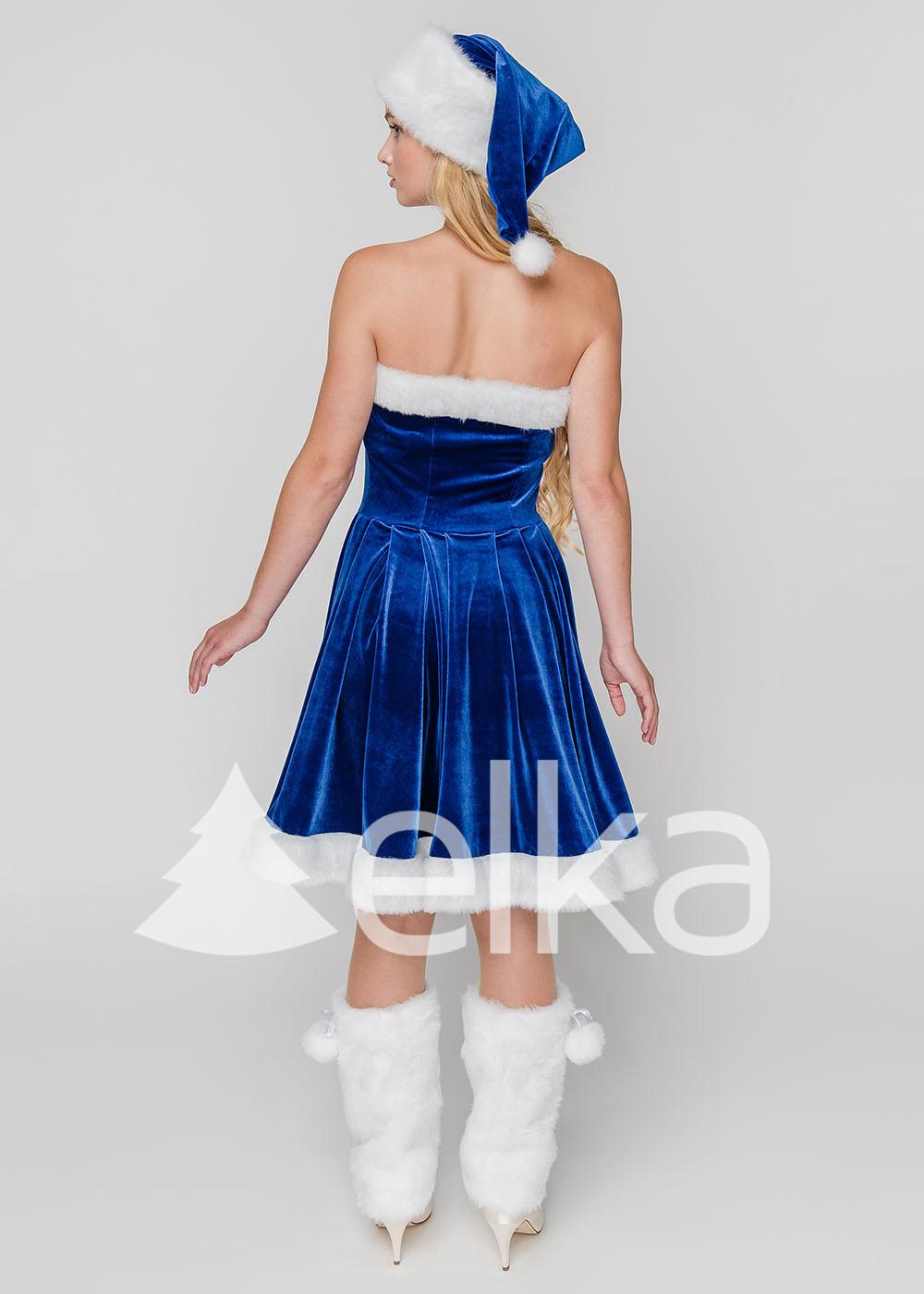 Костюм Снегурочки Финка синяя