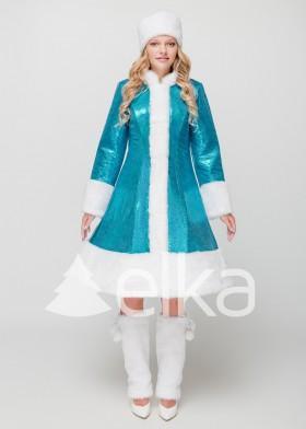 Костюм Снегурочки Стелла голубая