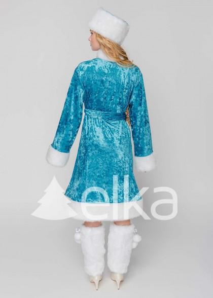 Костюм Снегурочки Искра голубая