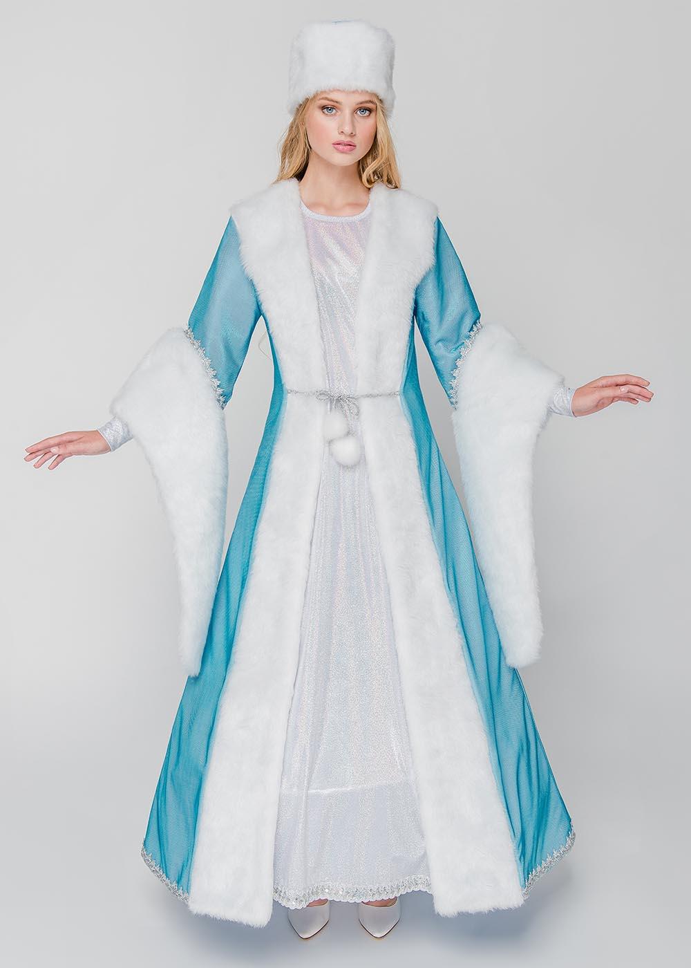 Костюм Снегурочки Арктика голубая