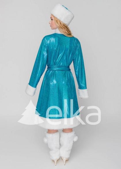 Костюм Снегурочки Бель голубая