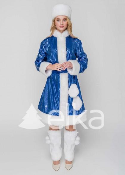 Костюм Снегурочки Бель синяя