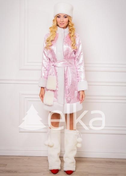 Костюм Снегурочки Аврора розовая
